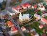Kościół w Nisku z lotu ptaka (efekt makiety)
