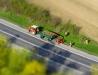 Prace drogowo-porządkowe na trasie Nisko-Zarzecze (Tilt-Shift)
