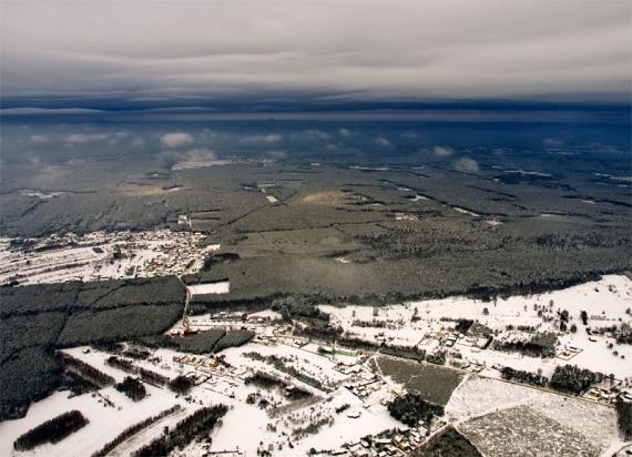 Zima pełną gębą - loty między chmurami