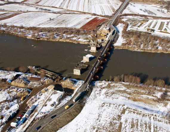 Budowa nowego mostu na Sanie (Nisko-Zarzecze)