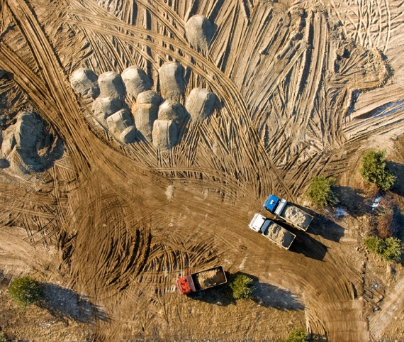 Prace budowlane, zalew Nisko-Podwolina