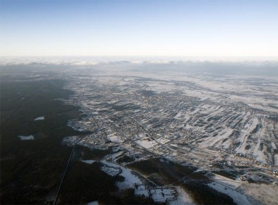 Miejscowość Nisko z wysoka