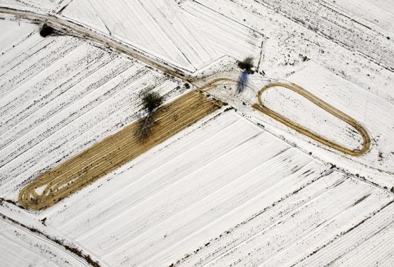 Znaki na śniegu - Jarocin