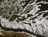 Rzeka San w zimie - ujęcie ortogonalne II