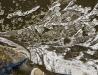 Rzeka San w zimie - ujęcie ortogonalne I