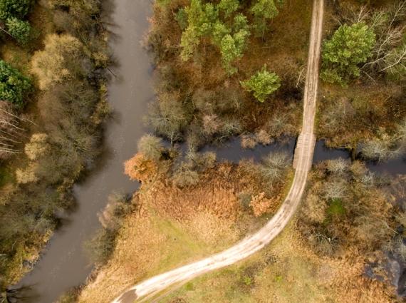 Rzeka Szum wpadająca do Tanwi