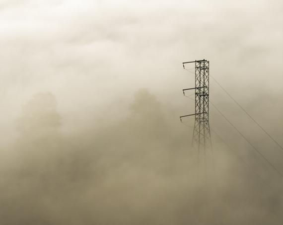 Poranne mgły nad Sanem