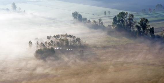 Jesienny mglisty klimacik.
