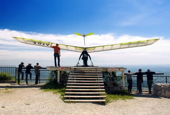 Start lotni z rampy w Bassano del Grappa