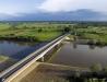 Nowy most na Sanie - fotka z prawego brzegu