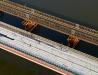 Świeża fotka lotnicza z budowy mostu na Sanie w Zarzeczu (wtorek 8 listopada 2011)
