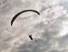 Paralotnia na holu - lotnisko Turbia