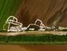 Przesiąknięte wały przeciwpowodziowe (miejscowość Wrzawy)