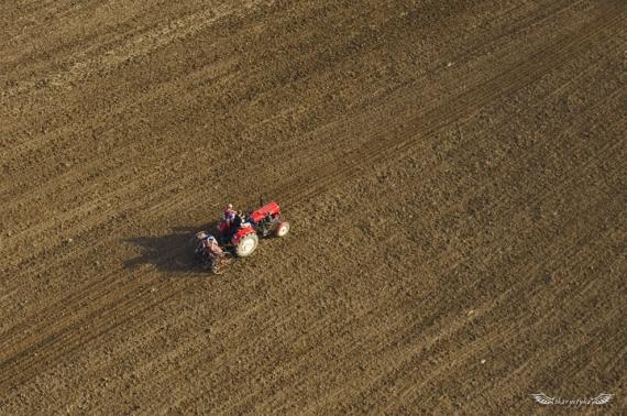 Zasiew zbóż ozimych w dolinie Sanu (podkarpacie)