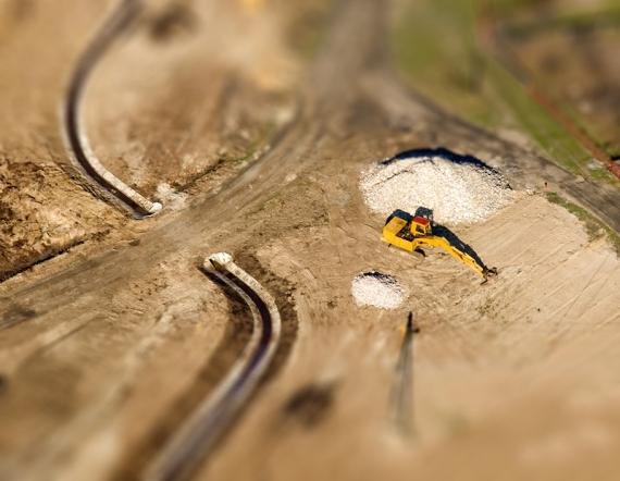 Efekt makiety w fotografii lotniczej #3