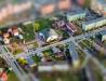 Tilt-Shift na zdjęciu lotniczym - kościół 'reaktor' w Stalowej Woli
