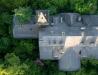 Dwór ruina w Dąbrownicy (zdjęcie lotnicze II)