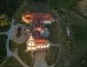 Leżachów-Sieniawa zamek - zdjęcie lotnicze