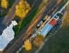 Rampa kolejowa z lotu ptaka (Tilt-Shift)