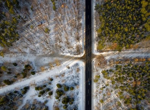 Parking i kapliczka Św.Jana w Nisku-Warchołach