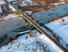 Nowy most na Sanie w zimowej scenerii (29 stycznia 2012)