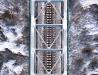 Most LHS na Sanie w zimie (wycinek i na dokładkę orto)