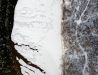 Rzeka San w zimie (widok ortogonalny)